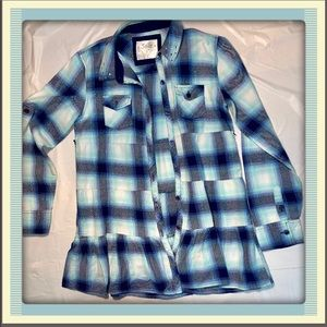 """""""Justice"""" Girls Button Down Top"""